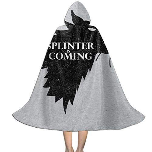 OJIPASD Splinter is Coming Teenage Mutant Ninja Turtles Unisex Kinder Kapuzenumhang Umhang Umhang Umhang Cape Halloween Weihnachten Party Dekoration Rolle Cosplay Kostüme