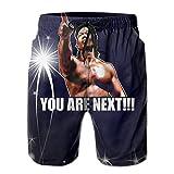 Mznk6428adnx Man Bloodsport Movie Chun Li Quote Men's Beach Shorts Medium White
