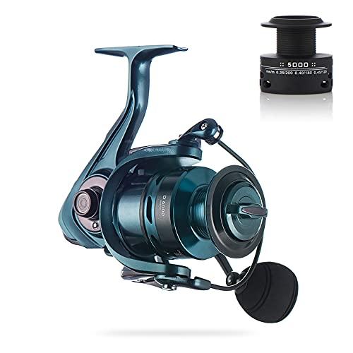 OLYSPM Carretes de Pesca Carrete Spinning 12+1BB 1000-7000 Huso de Metal Completo,Agua Dulce y Agua Salada carretes de Pesca
