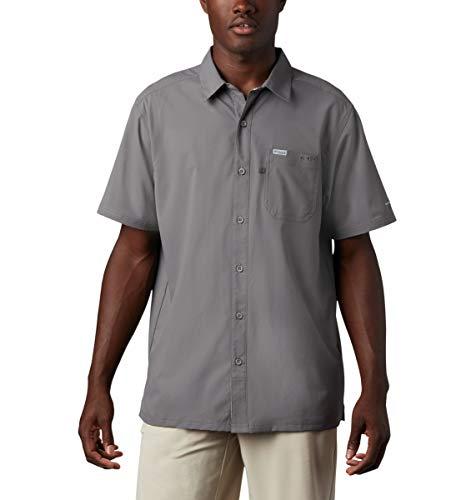 Columbia Men's Slack Tide Camp Shirt, City Grey, Medium