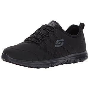 Skechers for Work Women's Ghenter Srelt Work Shoe, Black, 8 M US