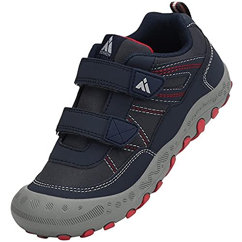 Mishansha Chaussures Randonnée Enfant Durable Chaussure Trail Garçon Respirantes Baskets Fille Léger Scratches Bleu foncé B 37 EU