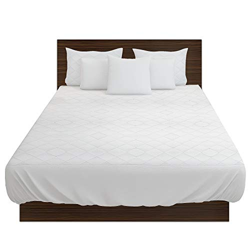 Highliving Quilted Mattress Protector, Extra Deep, All Sizes (Single (90 × 190 cm + 30cm))