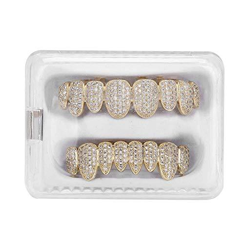 Grillz Zähne, 2 Farben Umweltfreundliche Messing Galvanik Grillz Praktisch zu verwenden, perfekt für Halloween oder andere Anlässe(#1)