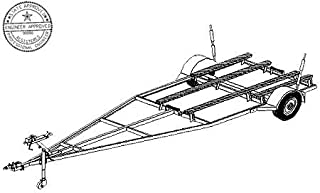 16FB Trailer Plan - 16'x6' Variable Width and Length Boat 2K Trailer DIY How-to Blueprint