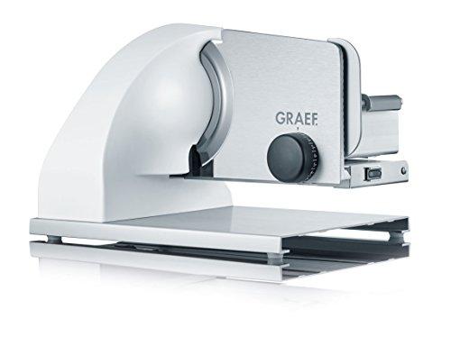 Graef SKS901EU Allesschneider, aluminium eloxiert/weiß