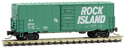 Micro-Trains MTL Z-Scale 40ft Box Car Rock Island/RI (Green/White) #47414