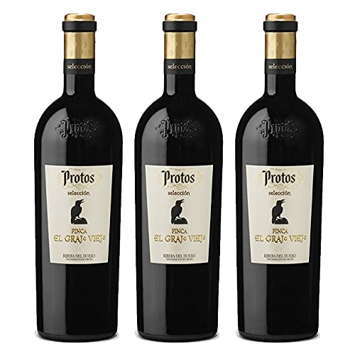 Vino Tinto Protos Seleccion Finca El Grajo Viejo de 75 cl - D.O. Ribera del Duero - Bodegas Protos (Pack de 3 botellas)