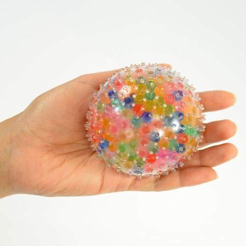 Kögler Flutschi-Ball XXL, Rainbow, mit bunten Waterbeads, 8,5cm, 4 Stück 76441