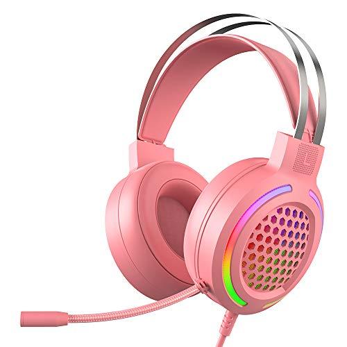 7.1 Auriculares Para Juegos, con Micrófono Reducción de Ruido, Canales Envolventes Estéreo,...