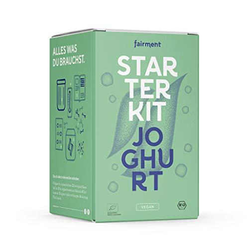 Fairment Starterkit veganer Joghurt – mit Joghurtbereiter und Zubehör - veganen Joghurt selber machen - bekannt aus der Höhle der Löwen
