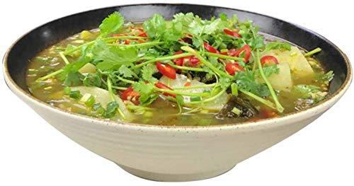 HSJ Pecera chucrut cerámica Extra Grande Sashimi juzgado Cubo tazón tazón de Sopa de Sopa Creativa Durable (Color : White, Size : 31cm*31cm)