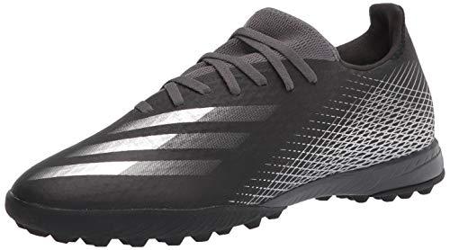 adidas mens X Ghosted 3 Turf,Black/Silver Metallic,11.5 M US
