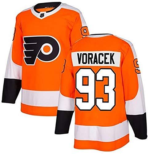 Flyers Jersey de Hockey sobre Hielo 93VORACEK, 28GIROUX, Camiseta Deportiva de Secado rápido y Transpirable, Camiseta de Manga Larga 2XL B