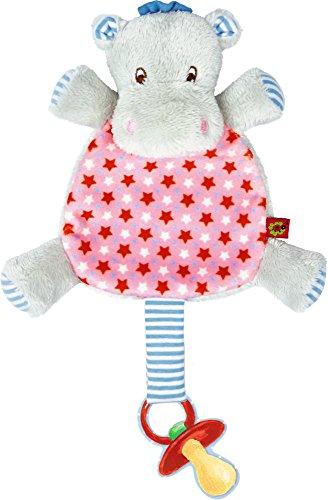 Die Spiegelburg hipp,hipp,hippo! hippopotame peluche doudou avec sucette rose Pour le bonheur du bébé