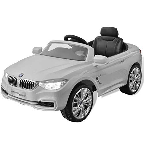 RC Auto kaufen Kinderauto Bild 3: vidaXL Kinderauto mit Fernbedienung Weiß Kinderfahrzeug Elektroauto Cabriolet*