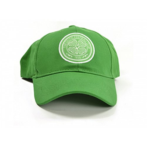 Celtic FC Official Soccer Crest Baseball Cap (One Size) (Green/White)
