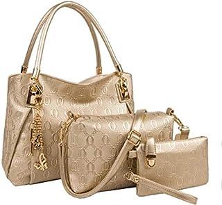 3Pcs/set HandBag Set For Women Gold Color