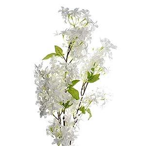 Homeford Artificial Jasmine Flowers Branch Spray, 42-Inch (White)