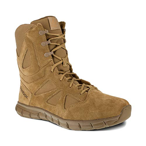 """Reebok Work Men's Sublite Cushion 8"""" Tactical Boot, Coyote, 10 Wide"""