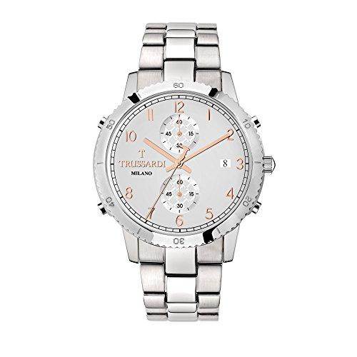 TRUSSARDI Reloj Cronógrafo para Hombre de Cuarzo con Correa en Acero Inoxidable R2473617005