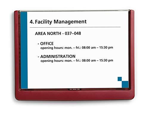 Durable Click Sign - Placa para puerta personalizable (A5), color rojo