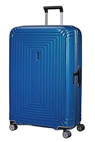 Samsonite Neopulse - Spinner XL Suitcase, 81 cm, 124 Litre, Blue (Metallic Intense Blue)