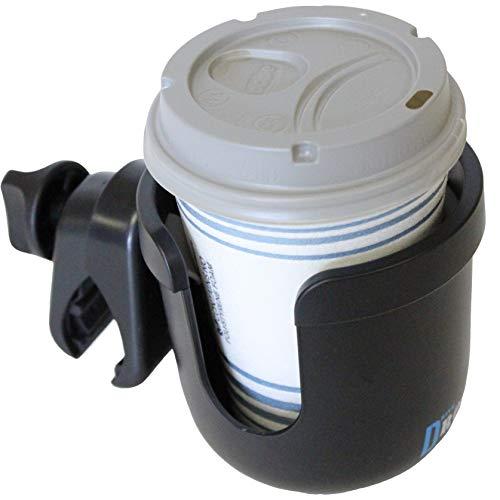 W4W Universal-Kinderwagen-Getränkehalter - MEGA STÄRKE Verstellbare Klemme passt auf jedes Fahrrad, Rollator, Rollstuhl, Auto - Großer verstellbarer Getränkehalter passt jeder Größe Tasse, Wasserflasche, Dose usw.