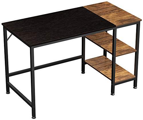 JOISCOPE Computertisch, Laptop-Schreibtisch, Schreibtisch mit Holzregalen, Schreibtisch im Industriestil für das Home Office (Black Finis) .47 Zoll