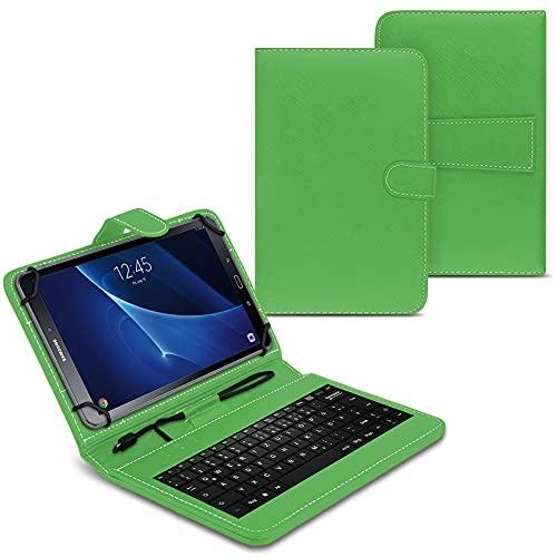 NAUC Funda para tablet compatible con Samsung Galaxy Tab A6 10.1 2016 T580 T585 con teclado USB, funda protectora verde