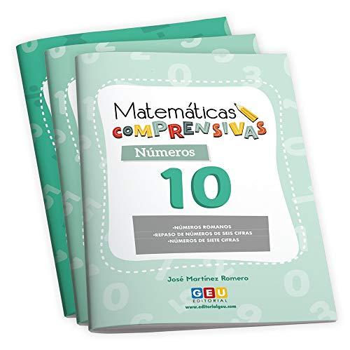 Pack Matemáticas Comprensivas 4º primaria: Cuadernos repaso Números y Cálculo | Editorial Geu (Niños de 8 a 9 años)
