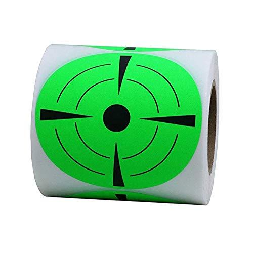 Eillybird Cible autocollante ronde de 7,1 cm - Vert fluorescent