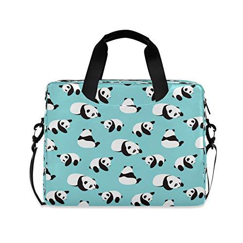 Panda Laptoptasche, Umhängetasche, Messenger Bag, Sleeve für 35,6 cm bis 39,6 cm (14 bis 15,6 Zoll), mit verstellbarem Notebook-Schultergurt