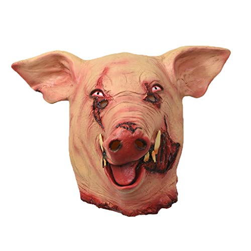 Horror Pig Overhead Animal Mask Latex Pig Halloween Kostüm Scary Saw Pig Full Head Horror Evil Animal Prop Make Fun At Home