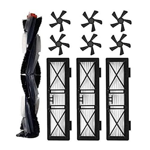 VERMOUTH Las Mejores Ofertas de Piezas de Repuesto adecuadas for la Serie Deata Botvac D D3 D4 D5 D6 D7 D75 D80 D85 Robot Aspirum Cleaner Partes Accesorios (Color : Black)