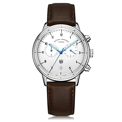 Dufa Deutsche Uhrenfabrik Orologio Cronografo Quarzo Unisex con Cinturino in Pelle DF-9003-02