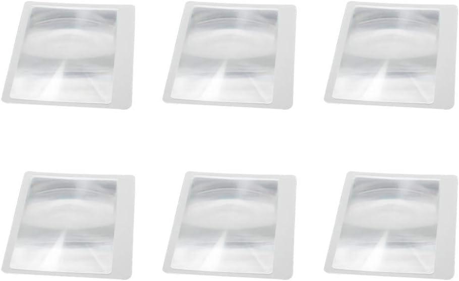 5Pcs - Blue Othmro Magnifying Glass,Fresnel Lens Magnifier Credit Card Size 3X Credit Card Magnifier