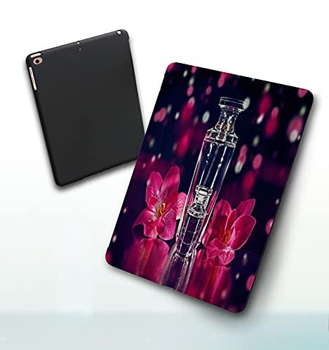 Funda para iPad 9,7 Pulgadas, 2018/2017 Modelo, 6ª / 5ª generación,Cosmética Floral Romántica Botella De Perfume Mujer Sueño Moda Arte Smart Leather Stand Cover with Auto Wake/Sleep