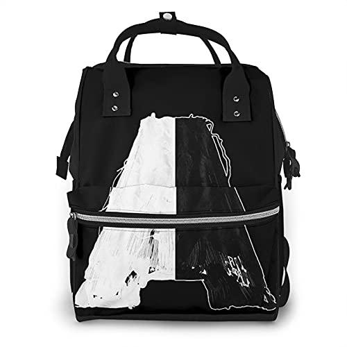 EDGHUOEIH Armin Van Buuren Balance Logo Bolsa de Pañales Mochila Multifunción Viaje Mochila Cambiante Bebé Gran Capacidad Impermeable Elegante