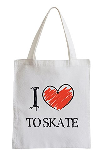 I Love to Skate Fun Jutebeutel