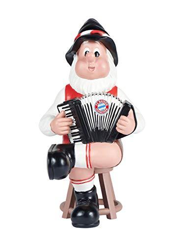 FC Bayern München Gartenzwerg Ziehharmonika