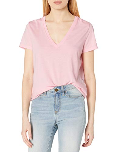J.Crew Mercantile Women's Vintage Cotton V-Neck T-Shirt, Soft Pink, M