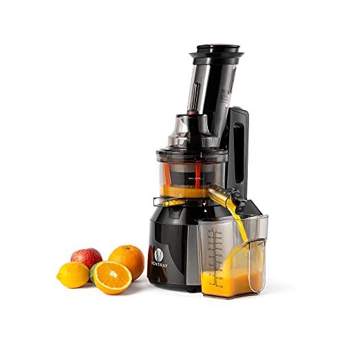 Ventray Licuadora Prensado en Frio Extractor de zumos para Frutas y Verduras con Motor Silencioso,fácil de limpiar con Cepillo - 809 Negro