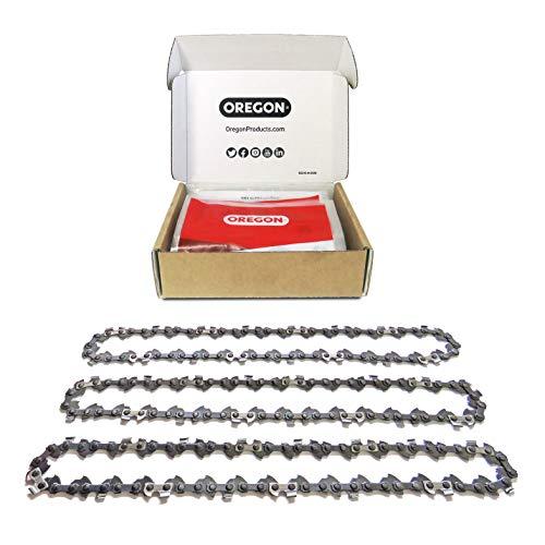 """Oregon 3x Sägekette, 3/8\"""" Teilung, 1,3 mm Treibgliedstärke (.050\"""") , 57 Antriebsglieder für 40 cm Schnittlänge - passend für alle Marken incl. Alpina, Bosch, Grizzly, Scheppach, Ferrex, Worx & mehr"""