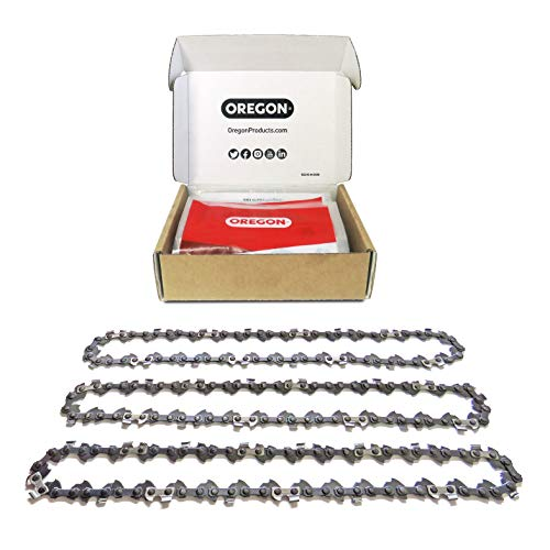 Oregon 3 x Saw Chains, 52 Drive Links: 35 cm (14-Inch) Husqvarna, McCulloch, Ryobi, Bosch Chainsaws and Others Paquete de 3 Cadenas de Sierra