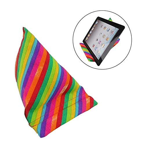 fridaymonga Tablet Stand, Portable Soft Triangle Phone Tablet Cushion Stand Holder for iPad E-Reader E-Book, Ideal for Use on the Bed Desk Round Sofa Couch