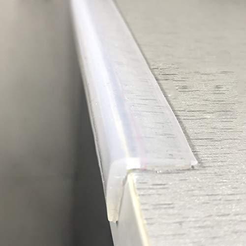 Angloria Kantenschutz 100 % Silikon, 1M Baby Proofing Schutzecken, transparent selbstklebend, weich für Kindersicherheit, Kindertische Schränke Möbel Stoßfänger (1,5 x 1,5 cm Breite)