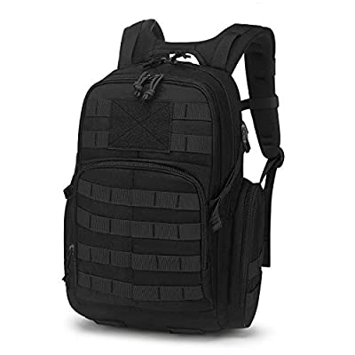 Mardingtop 25L Tactical Backpacks Molle Hiking daypacks for Motorcycle Camping Hiking Military Traveling 25L-Black