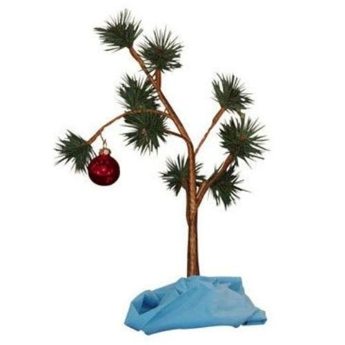 Charlie Brown Christmas Tree with Blanket 24' Tall (Non-Musical)