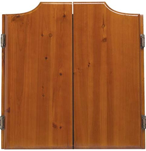 OUTLAW Stained Wooden Dart Board Cabinet, Honey